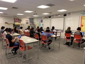 Candidates sit online tests